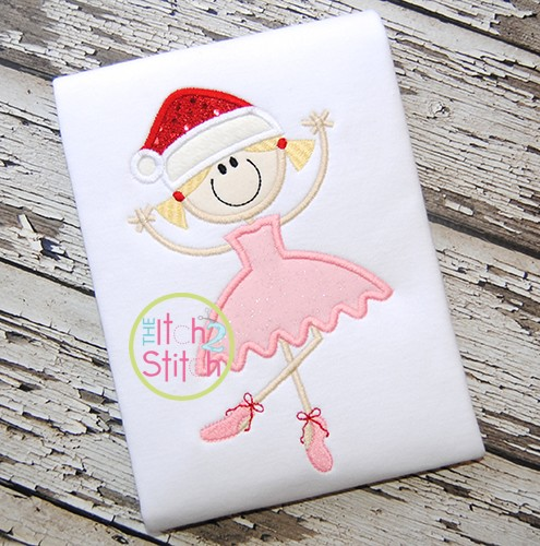 Christmas Ballerina Applique