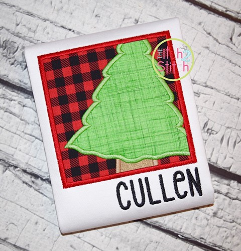 Christmas Tree Box Applique