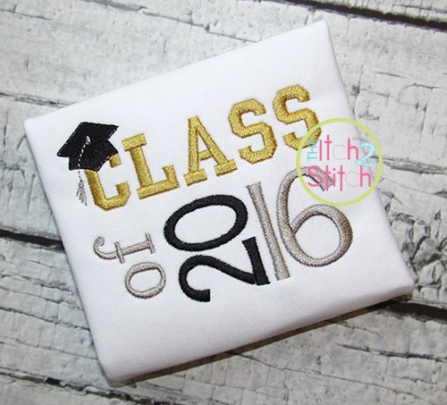Class of 2016 Embroidery