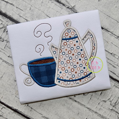 Coffee Pot Applique