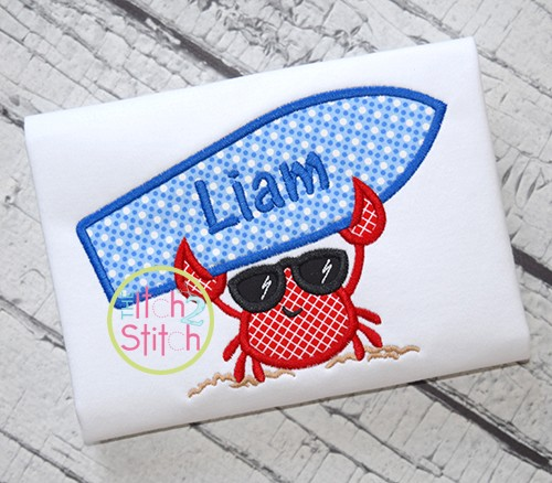Crab Surf Applique