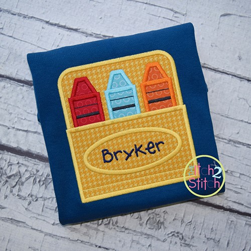 Crayon Box Applique