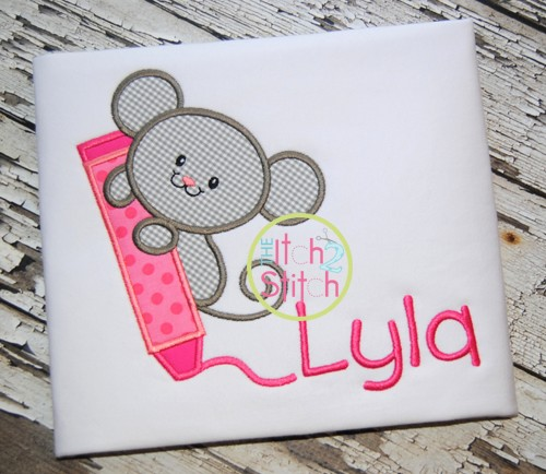 Crayon Mouse Applique