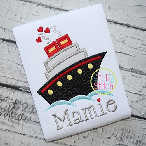 Cruise Ship Applique