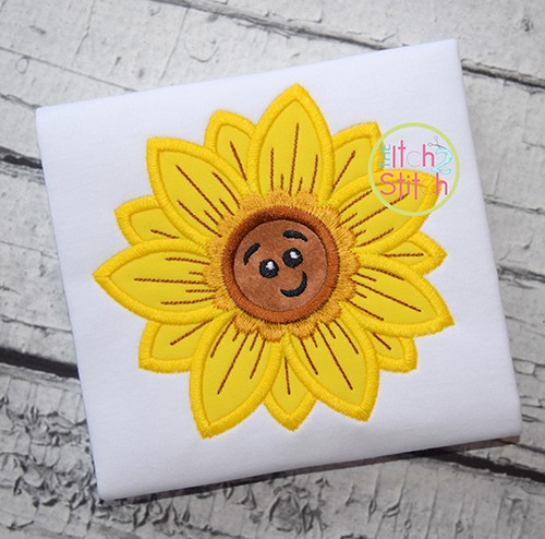 Cute Fall Sunflower Applique