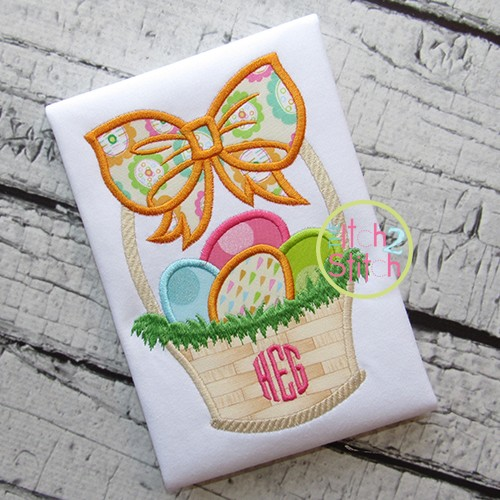 Easter Basket Bow Applique