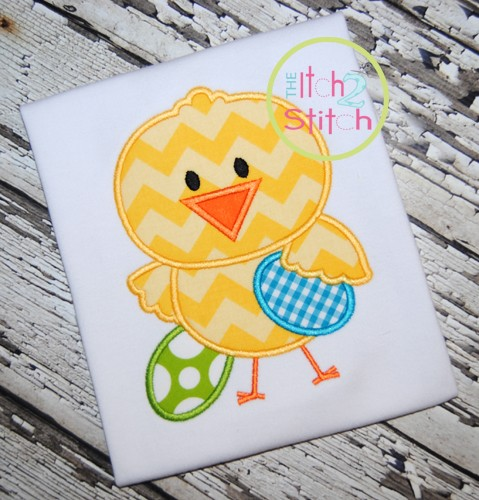 Easter Chick Boy Applique
