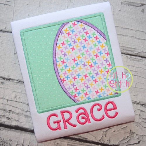 Easter Egg Box Applique