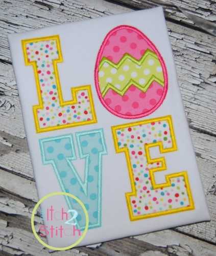 Easter Egg Love Applique