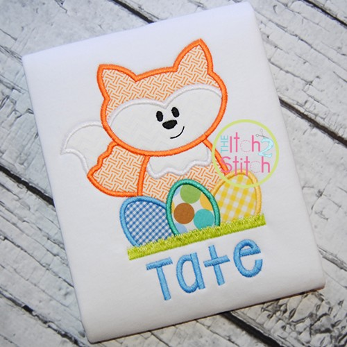 Easter Fox Applique
