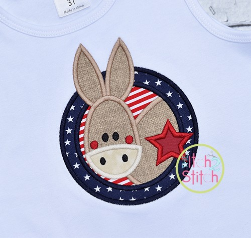 Election Donkey Applique