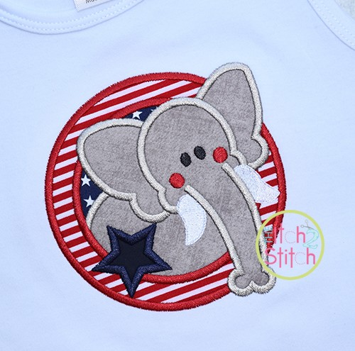 Election Elephant Applique
