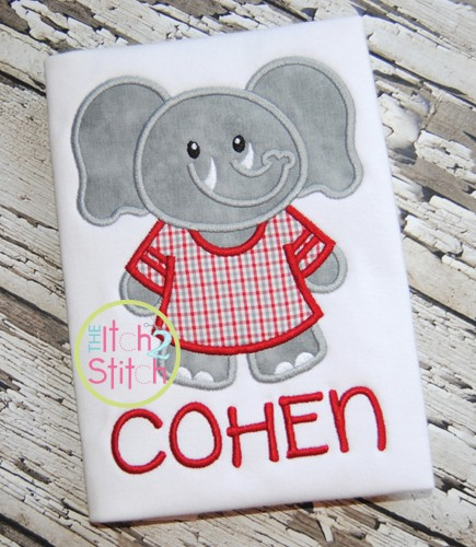 Elephant Jersey Mascot Applique