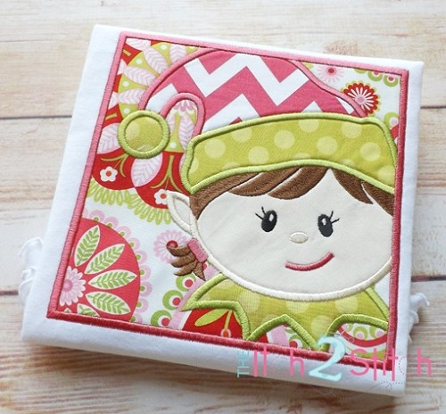 Elf Box Girl Applique