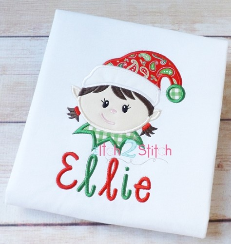 Elf Face Girl Applique