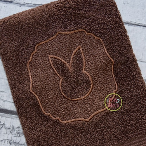 Embossed Bunny Embroidery