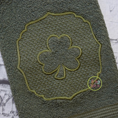 Embossed Shamrock Embroidery
