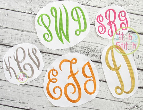 Empress Large Monogram Embroidery Font
