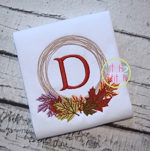 Fall Leaves Monogram Frame