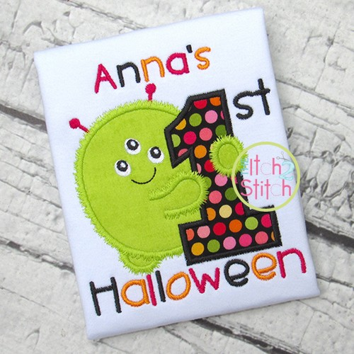First Halloween Monster Applique