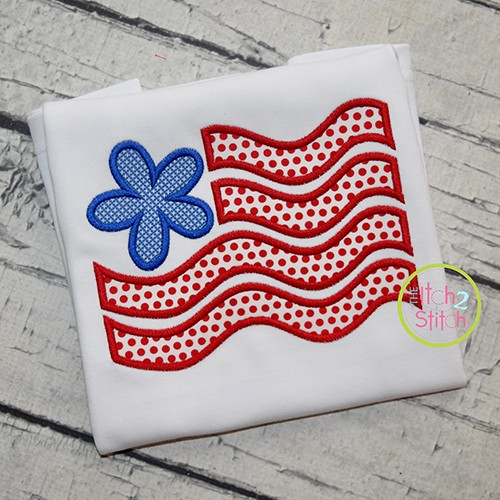 Flower Flag Applique
