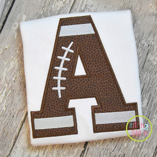 Football Alphabet Applique Set