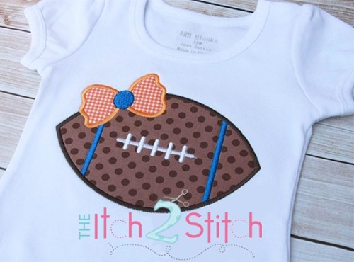 Football Bow Applique
