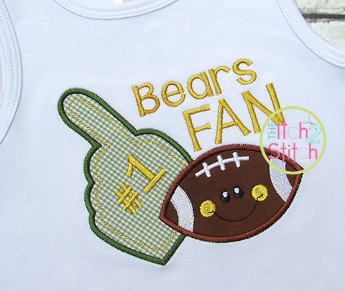 Football Foam Finger Applique