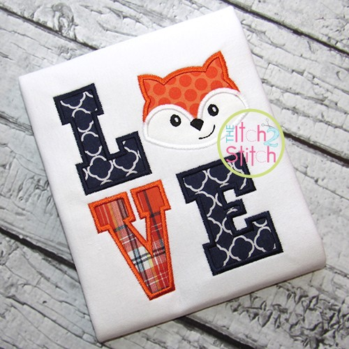 Fox LOVE Applique