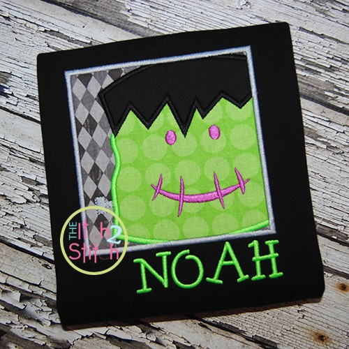 Frankie Frankenstein Box Applique