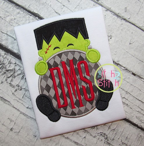 Frankenstein Peeker Applique