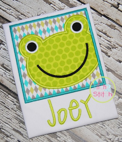 Frog Box Applique