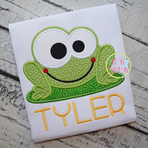 Frog Boy Applique