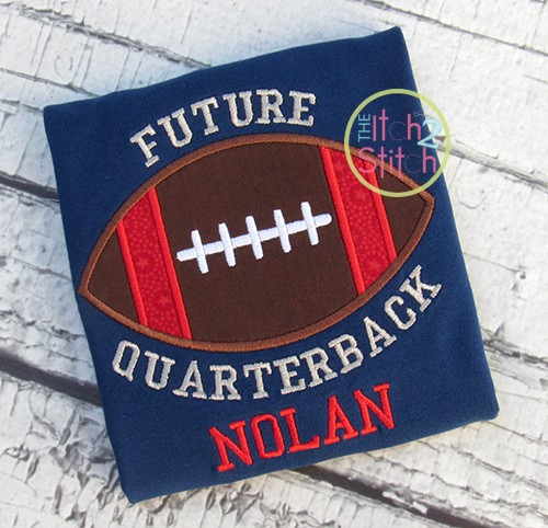 Football Future Quarterback Applique