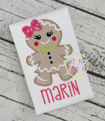 Gingerbread Girl 2 Applique