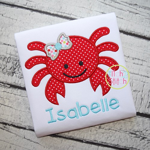 Girly Crab Applique