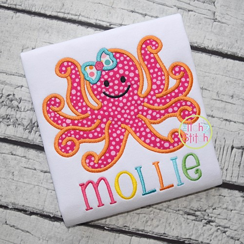 Girly Octopus Applique