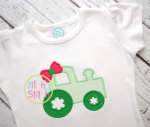 Girly Tractor Applique
