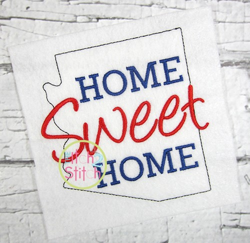 Home Sweet Home Arizona Embroidery