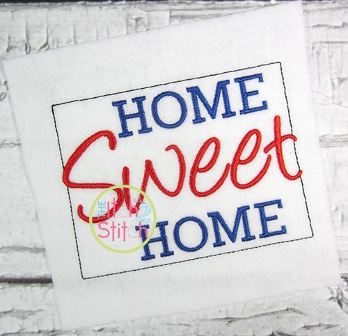 Home Sweet Home Colorado Embroidery