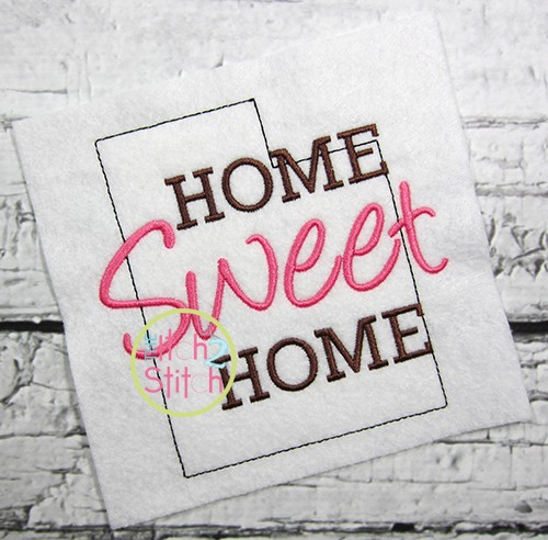 Home Sweet Home Utah Embroidery