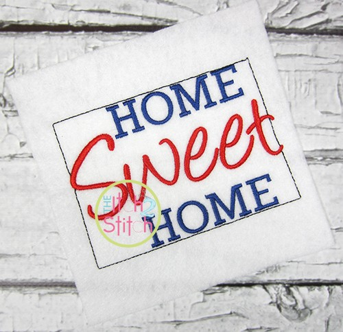Home Sweet Home Wyoming Embroidery