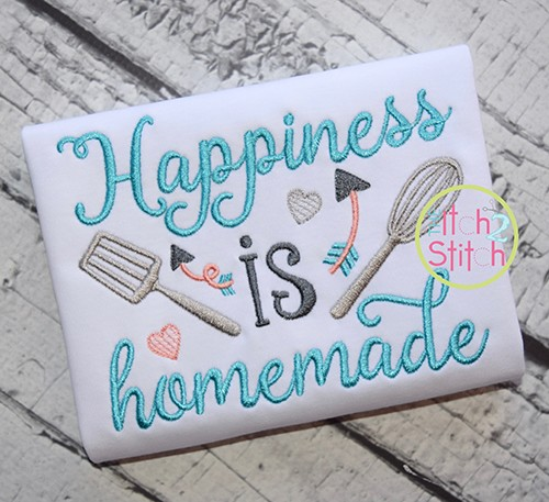 Happiness is Homemade Embroidery