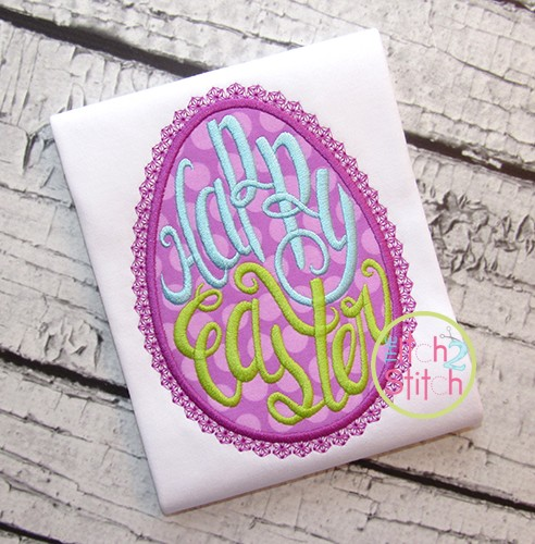 Happy Easter Egg Applique