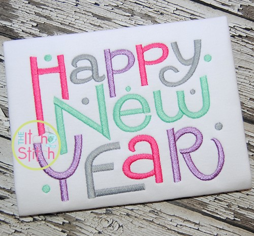 Happy New Year Embroidery