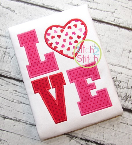 Heart LOVE Applique