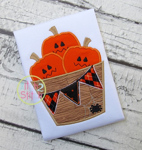 Jack O Lantern Barrel Applique