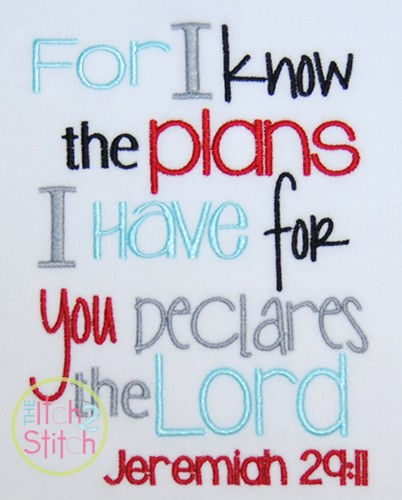 Jeremiah 29:11 Boy Version ( For I know the Plans I have For You)