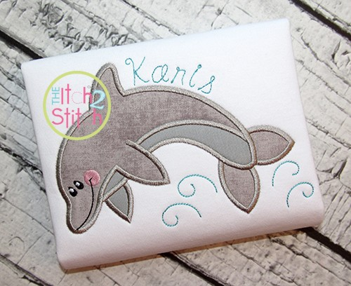 Jumping Dolphin Applique
