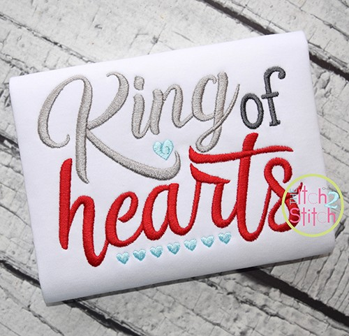 King of Hearts Embroidery